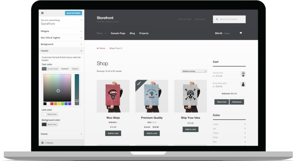 wooCommerce-Store-Front